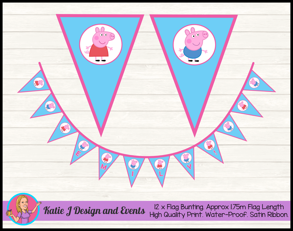 Peppa Pig & George Birthday Party Decorations