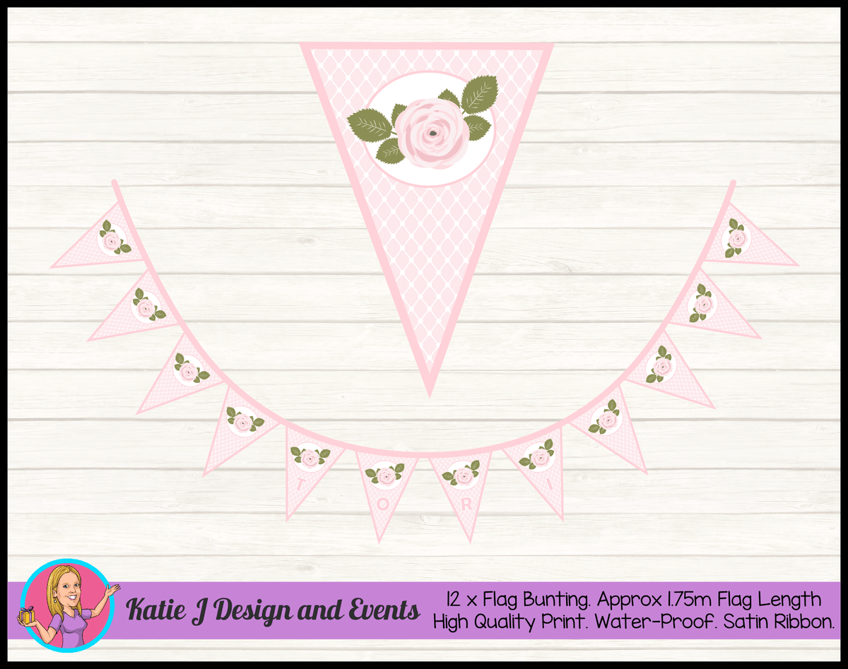 Pink Rose Birthday Party Decorations