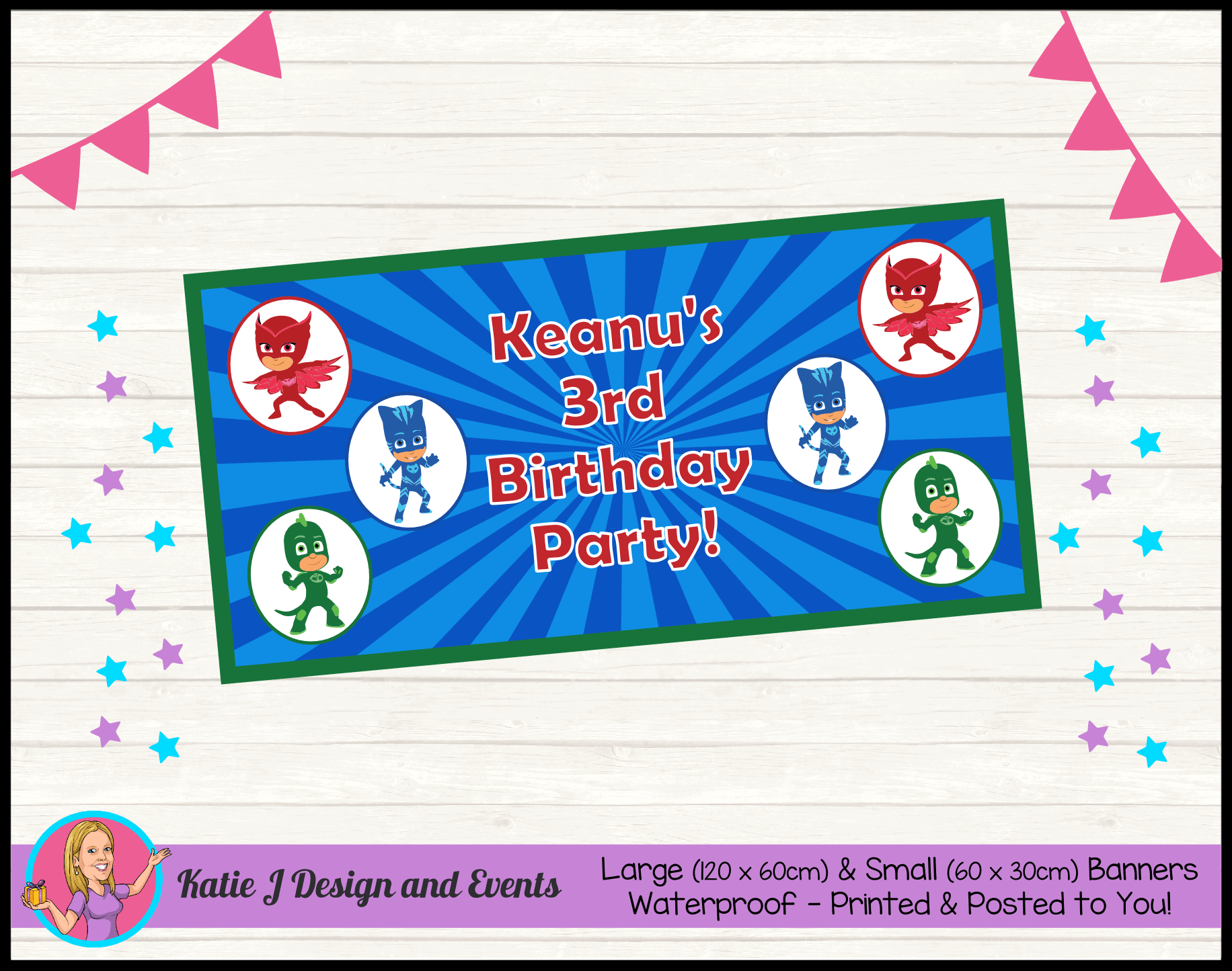 Personalised PJ Masks Party Packs Decorations Supplies