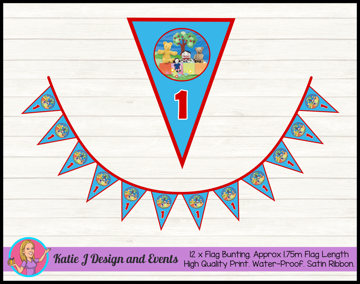 Personalised Playschool Birthday Party Flag Bunting
