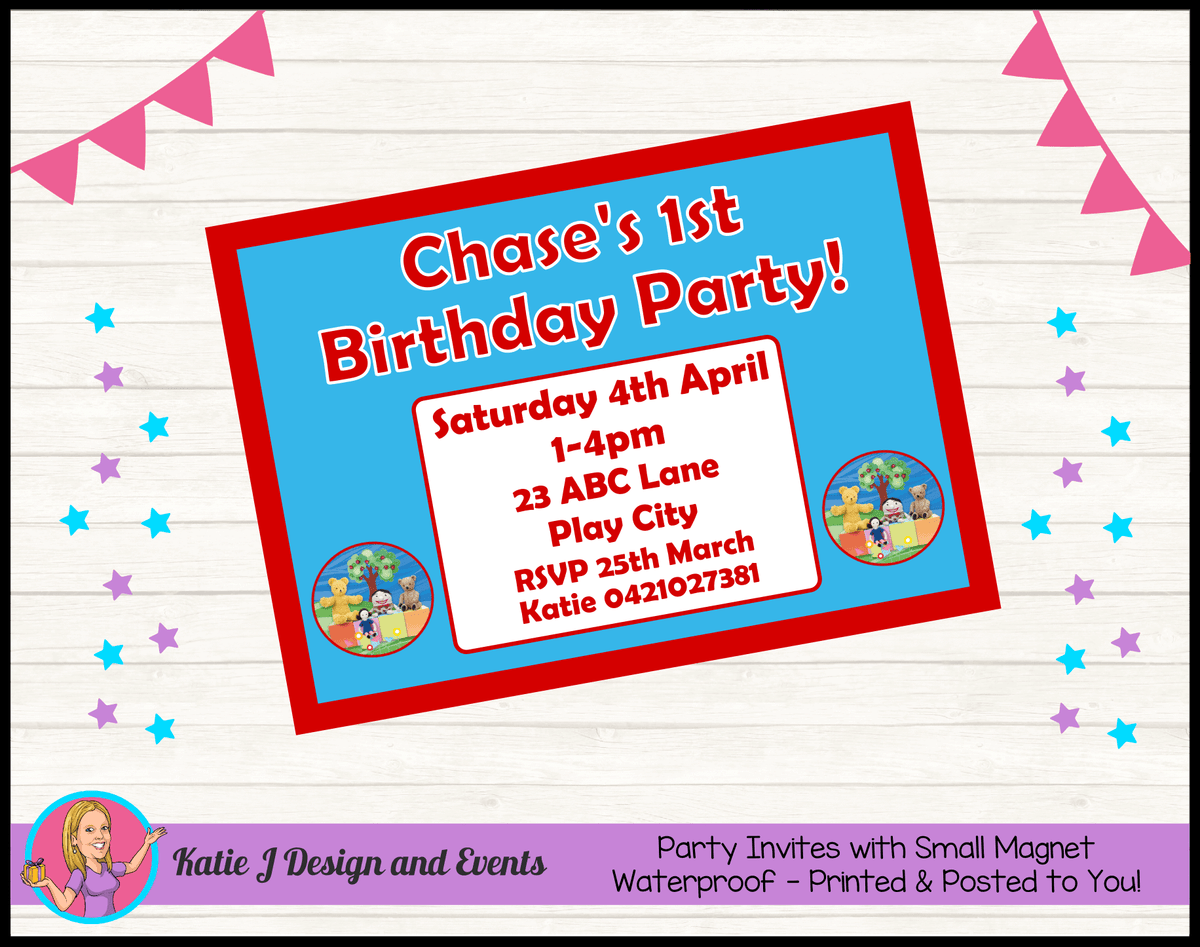 Personalised Playschool Birthday Party Invites Invitations