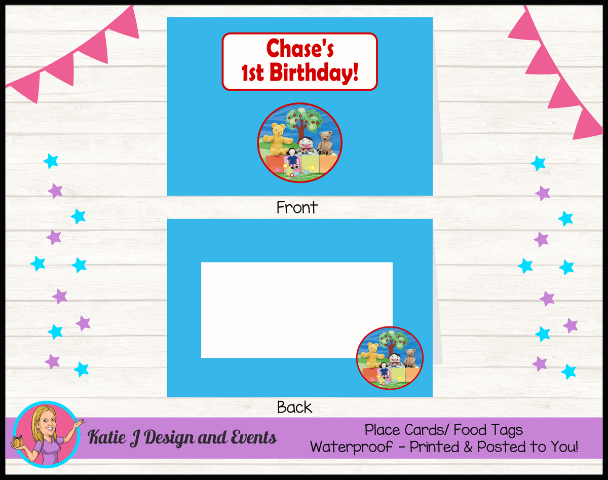 Personalised Playschool Party Place Cards