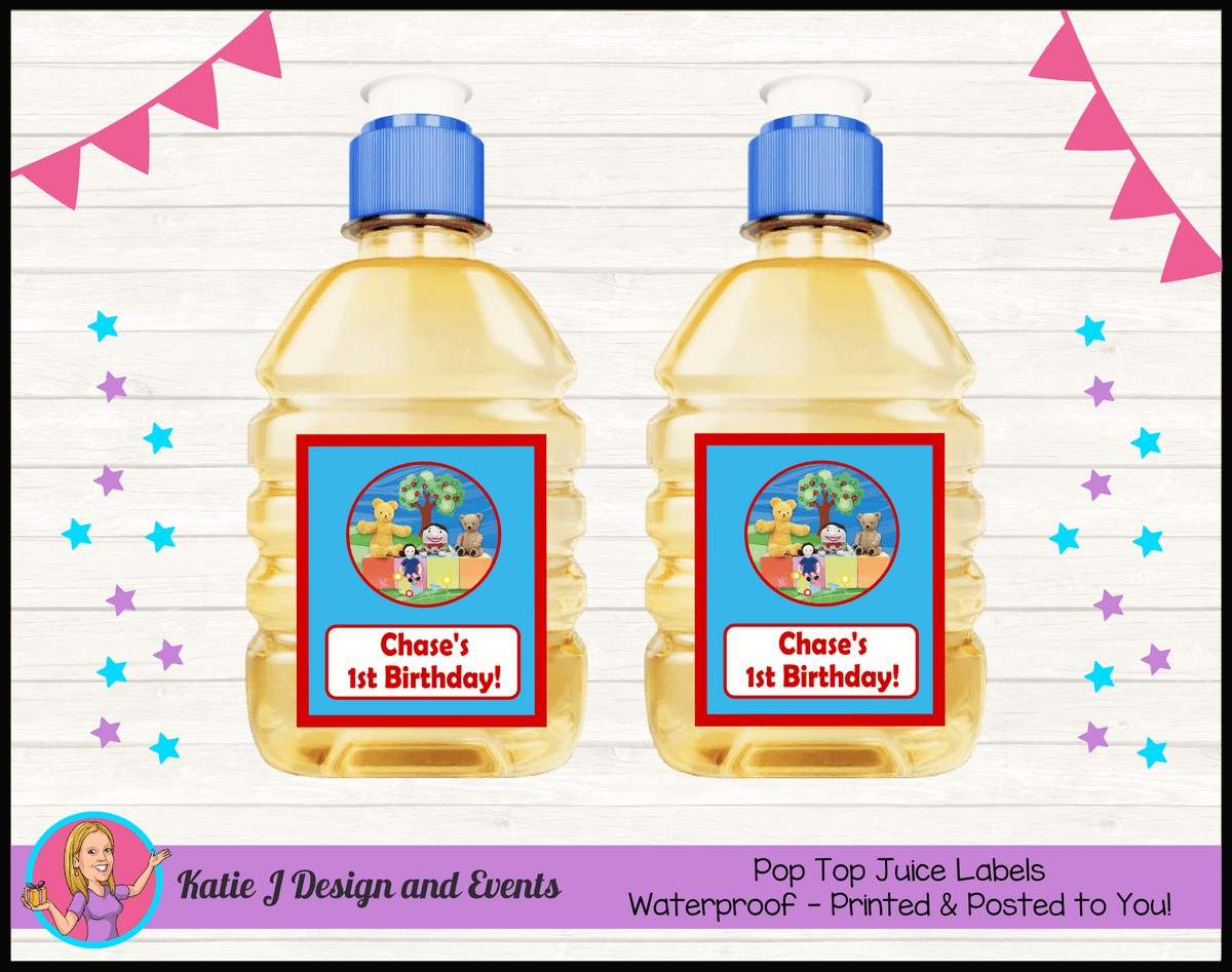 Personalised Playschool Pop Top Juice Labels