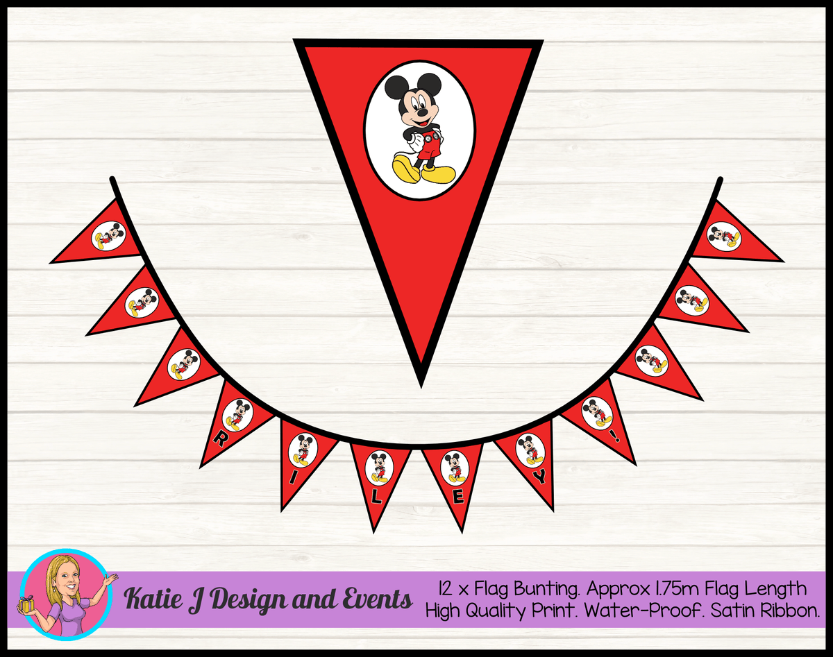 Red Mickey Mouse Birthday Party Decorations