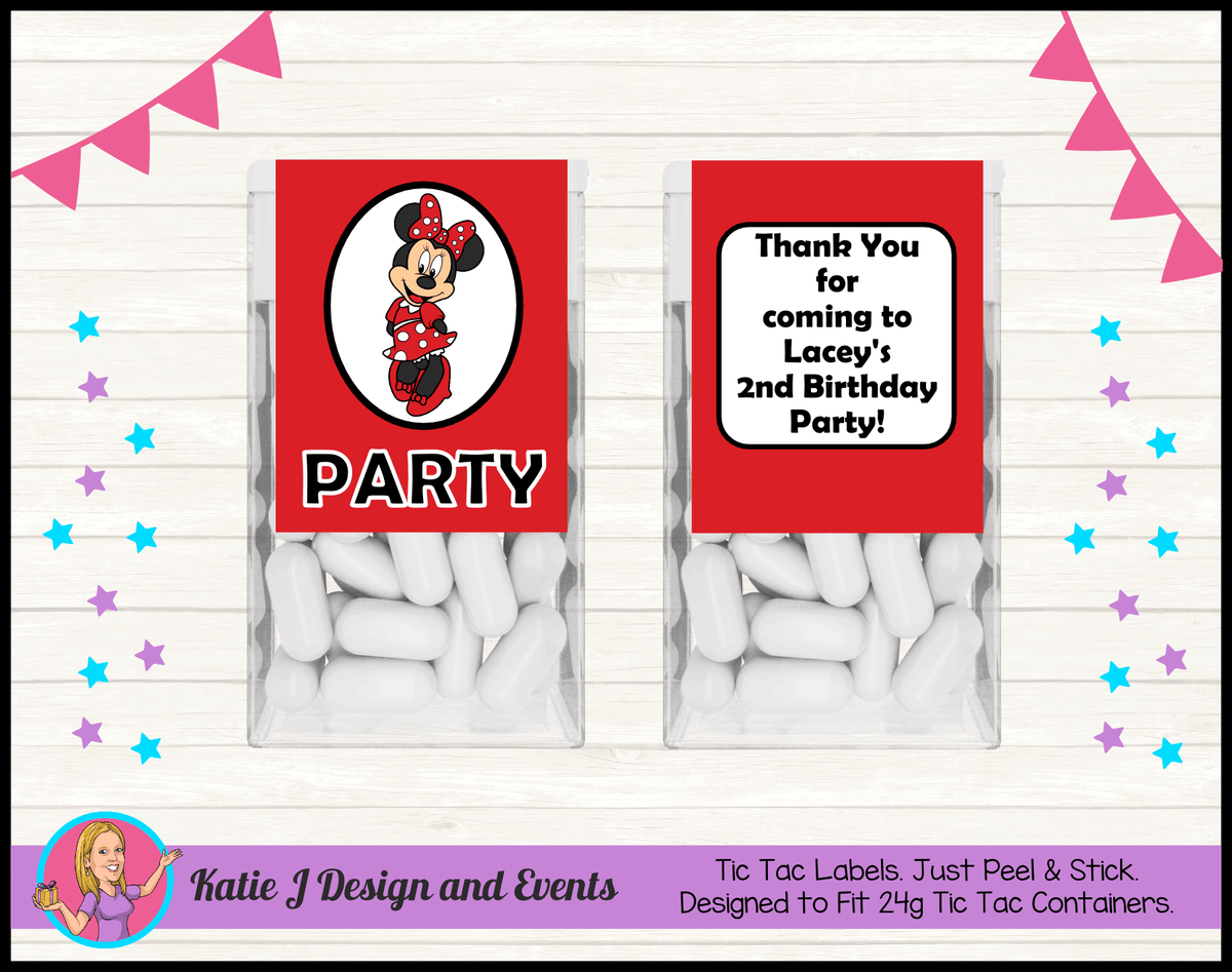 Red Minnie Mouse Birthday Party Decorations