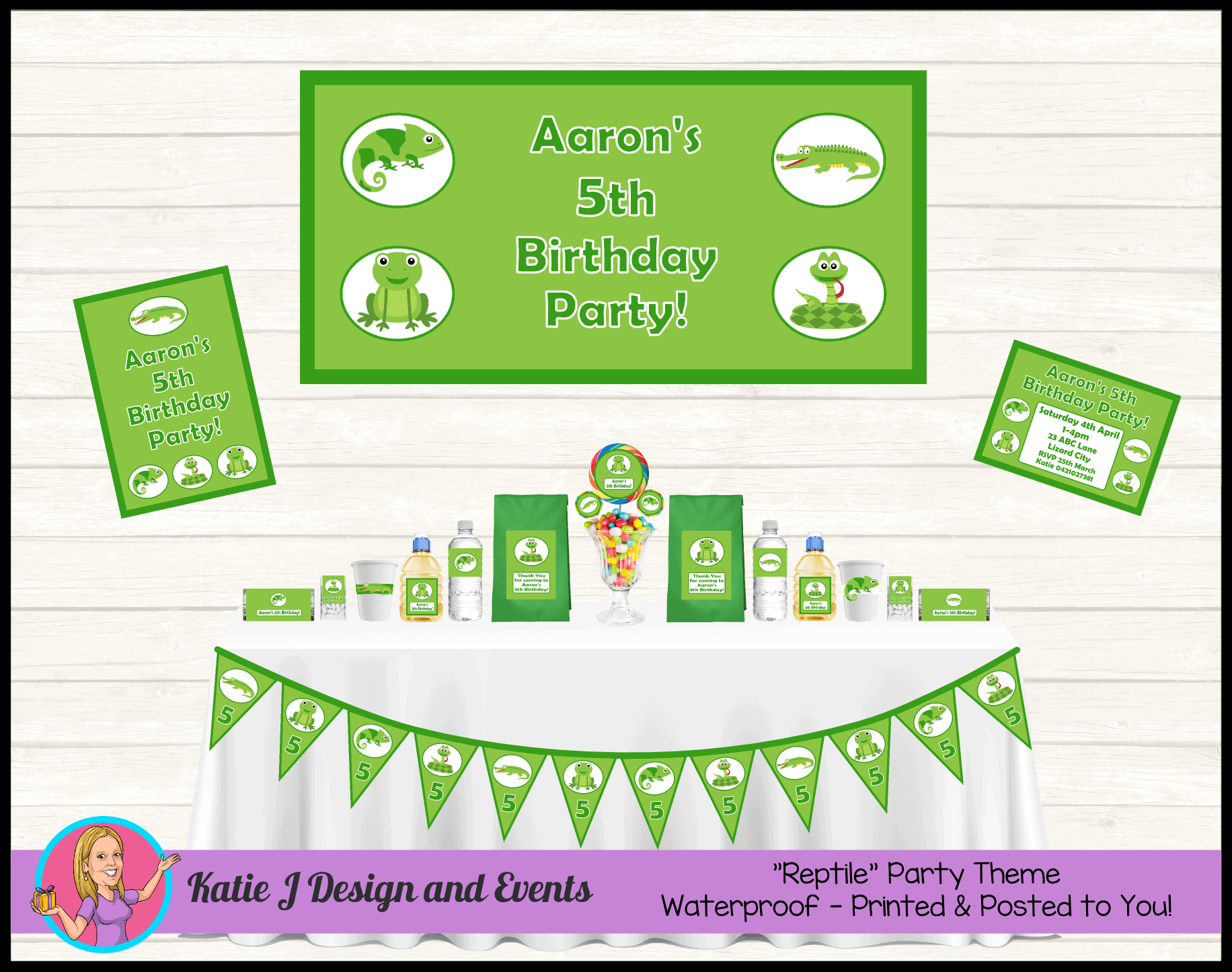 Reptiles Personalised Party Packs Decorations Supplies Australia