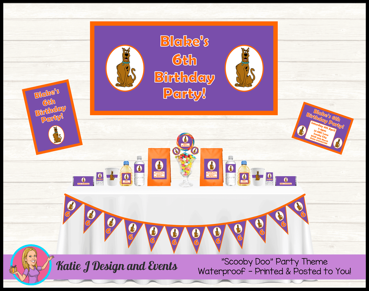 Personalised Girls Scooby Doo Party Packs Decorations Supplies