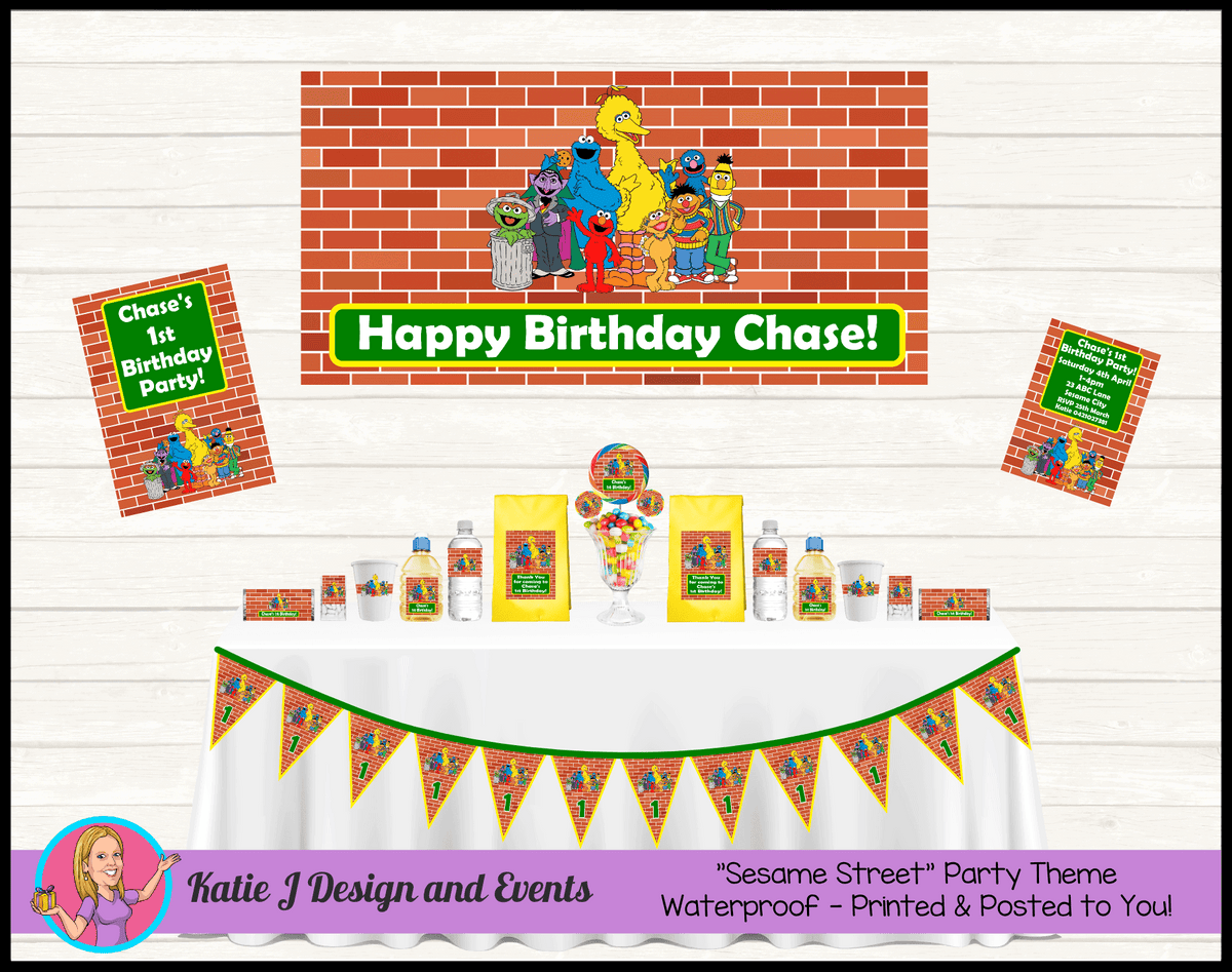 Personalised Sesame Street Party Packs Decorations Supplies