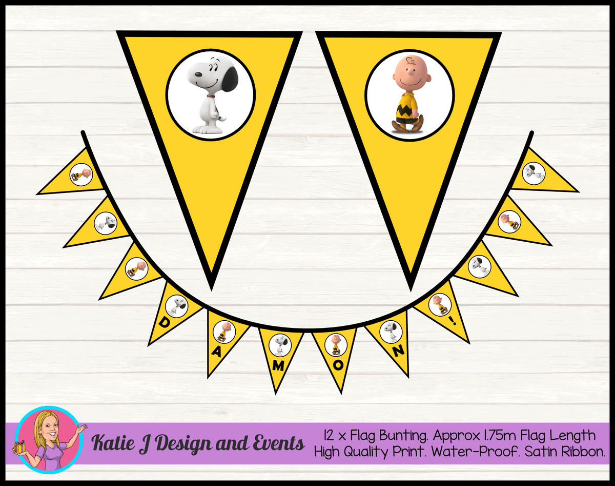 Personalised Snoopy Birthday Party Decorations