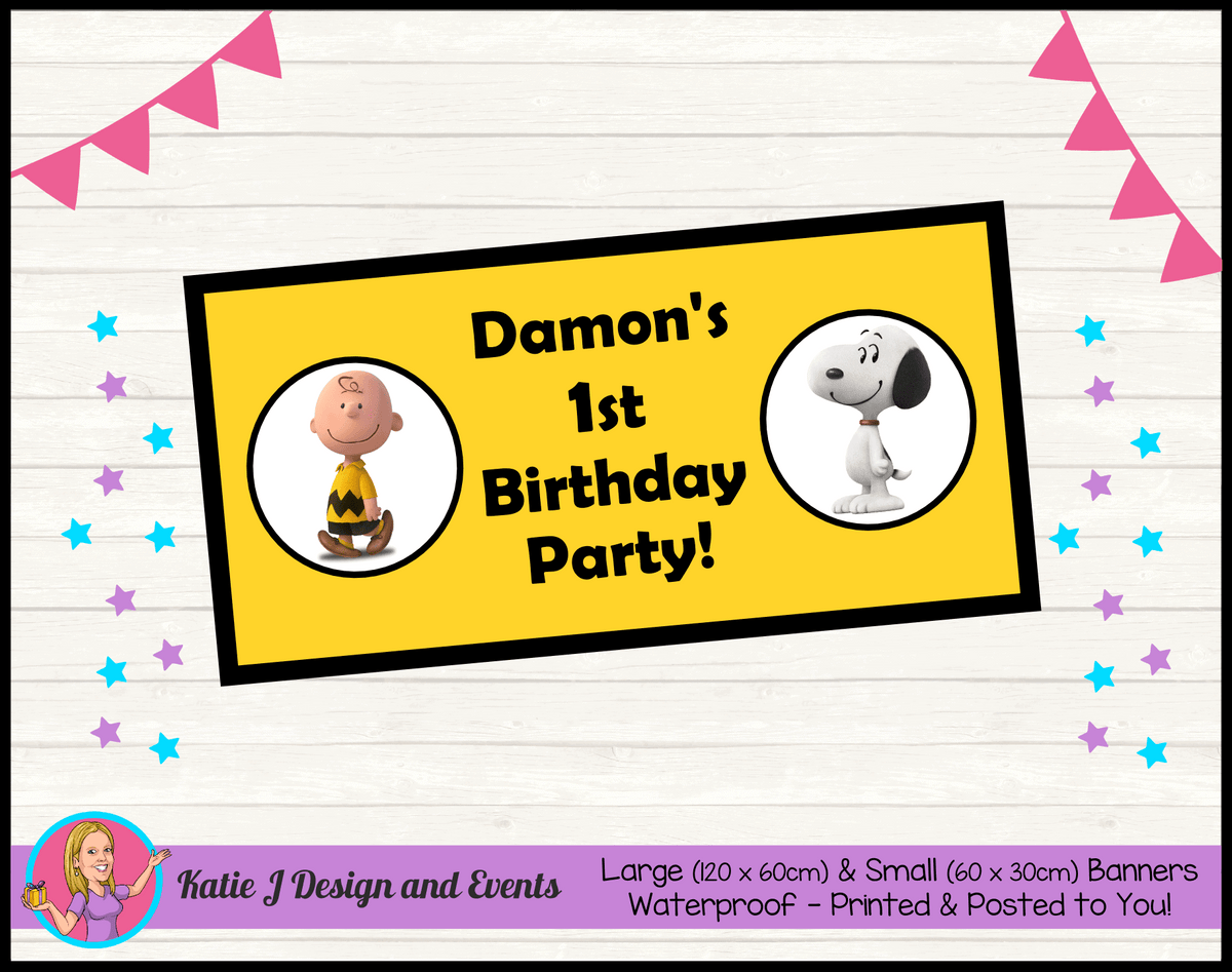 Personalised Snoopy Birthday Party Banner