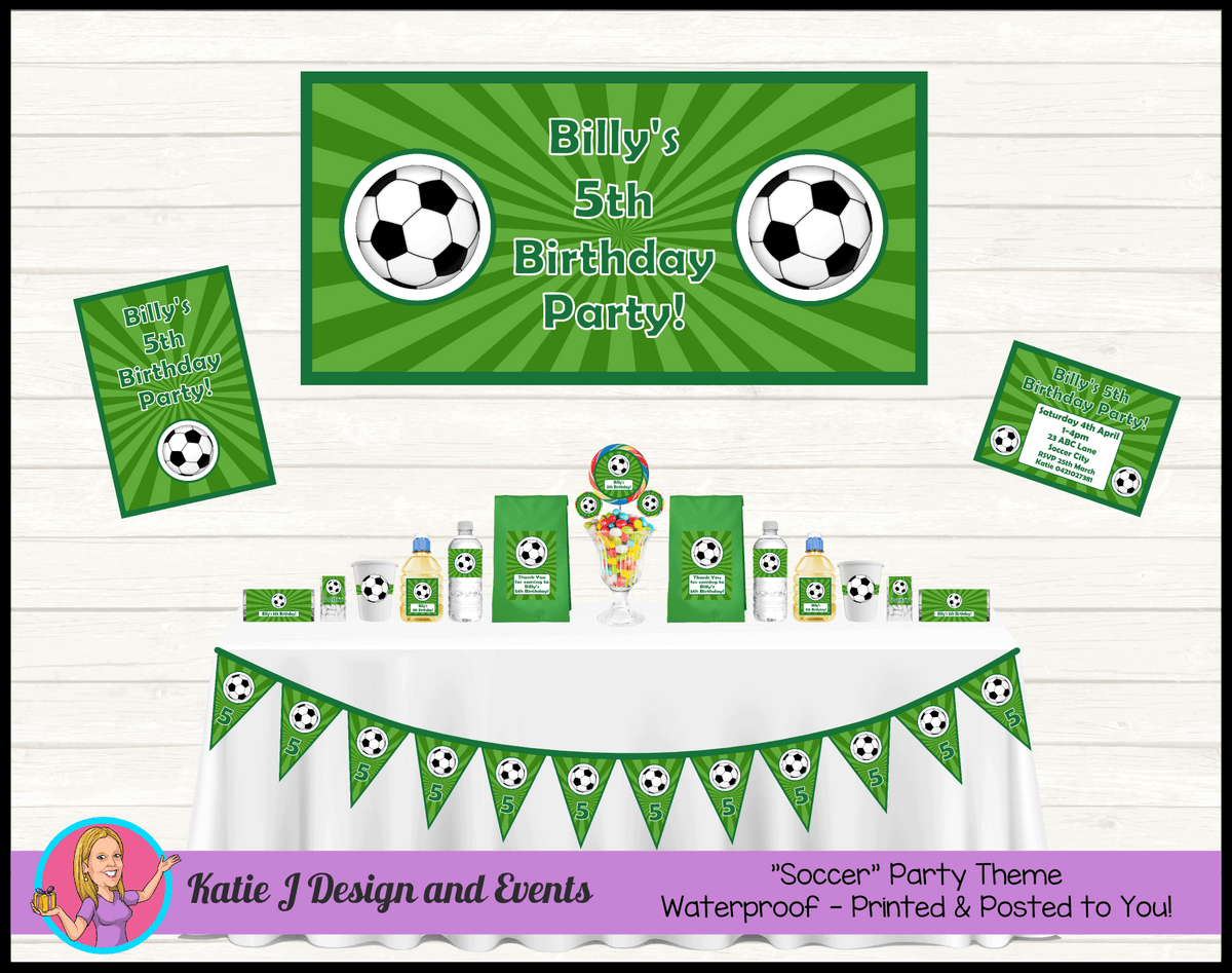 Personalised Soccer Party Packs Decorations Supplies