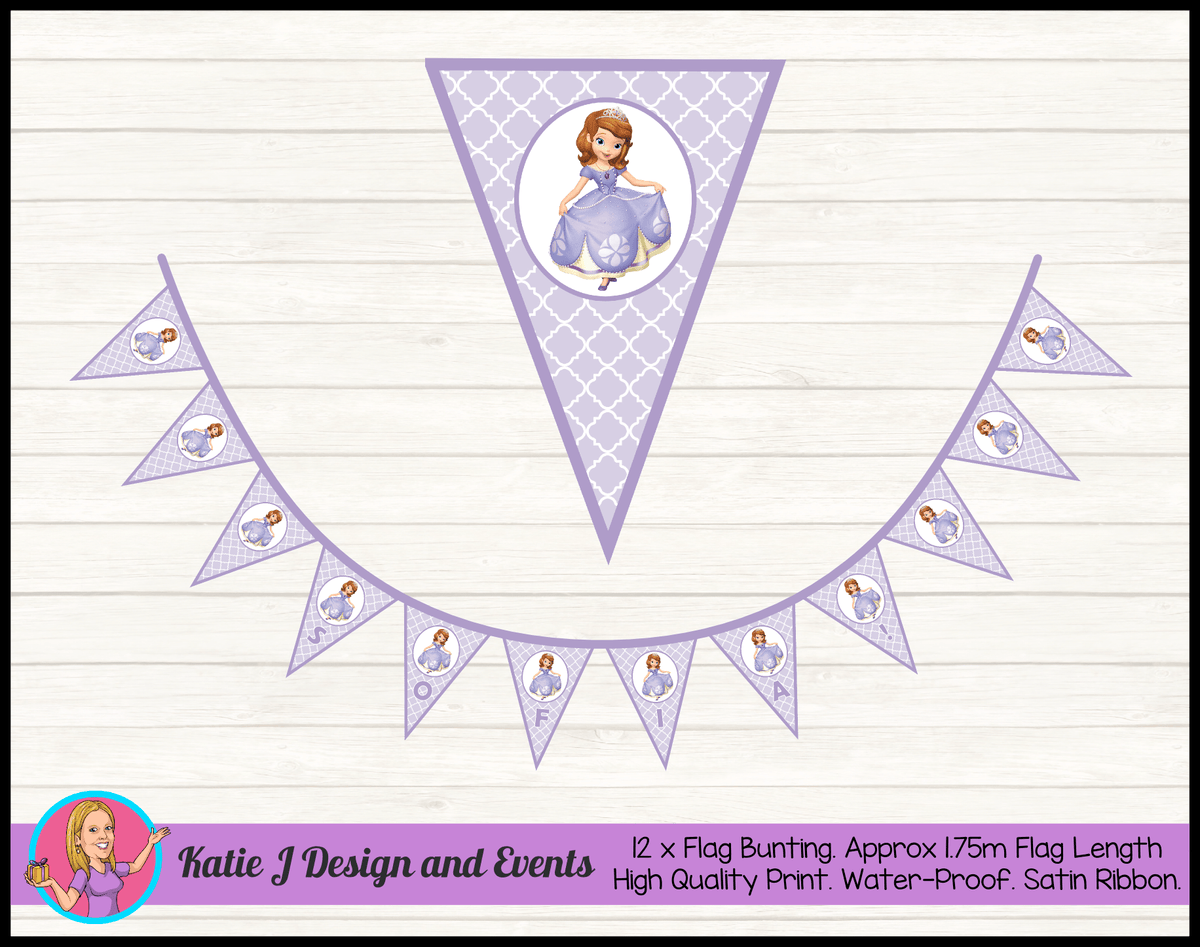 Personalised Sofia the First Birthday Party Decorations
