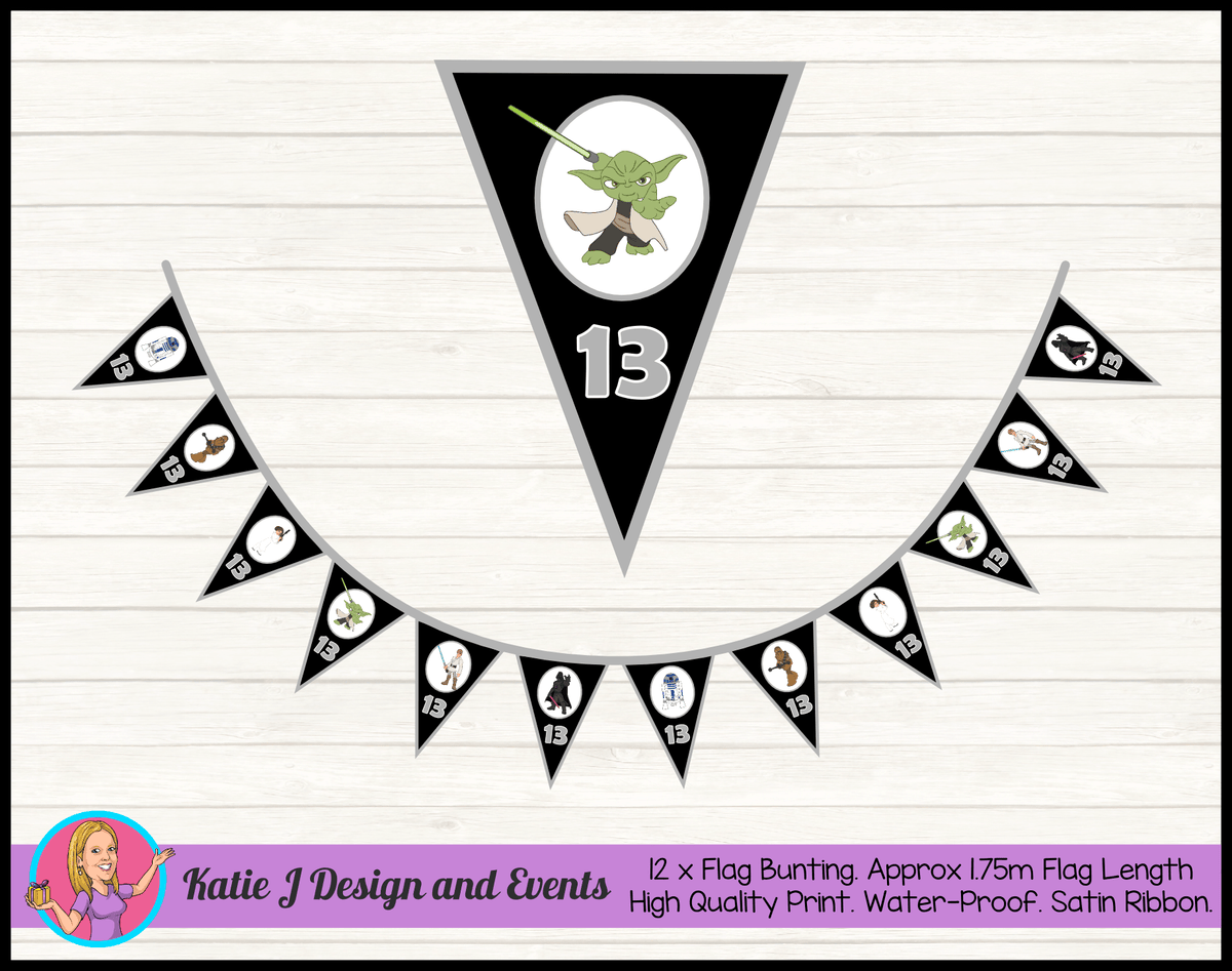 Personalised Star Wars Birthday Party Flag Bunting