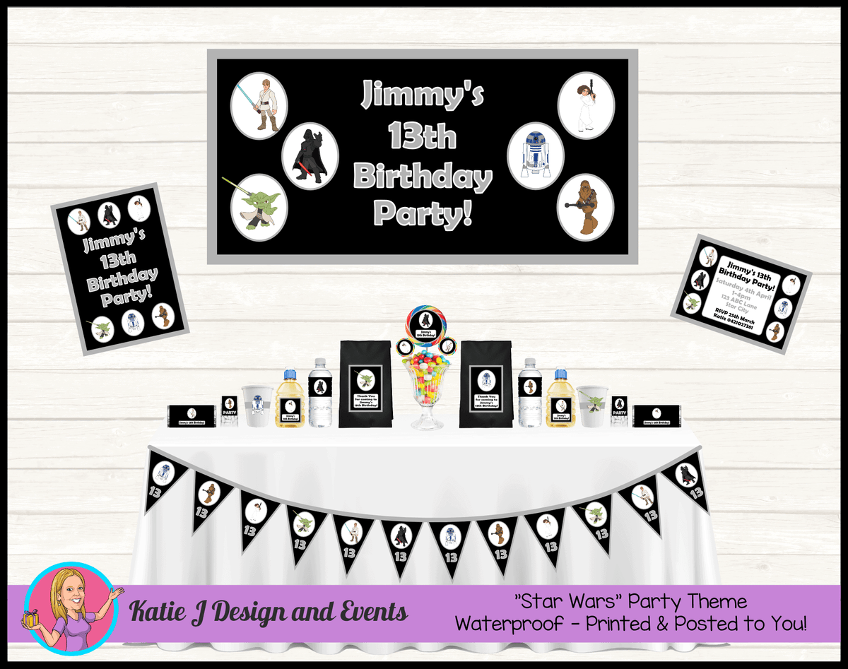 Personalised Star Wars Party Packs Decorations Supplies