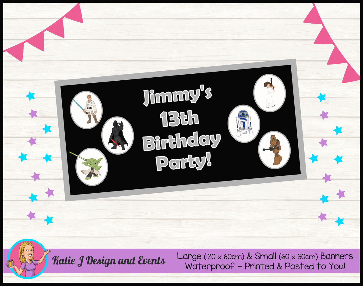 Personalised Star Wars Birthday Party Banner