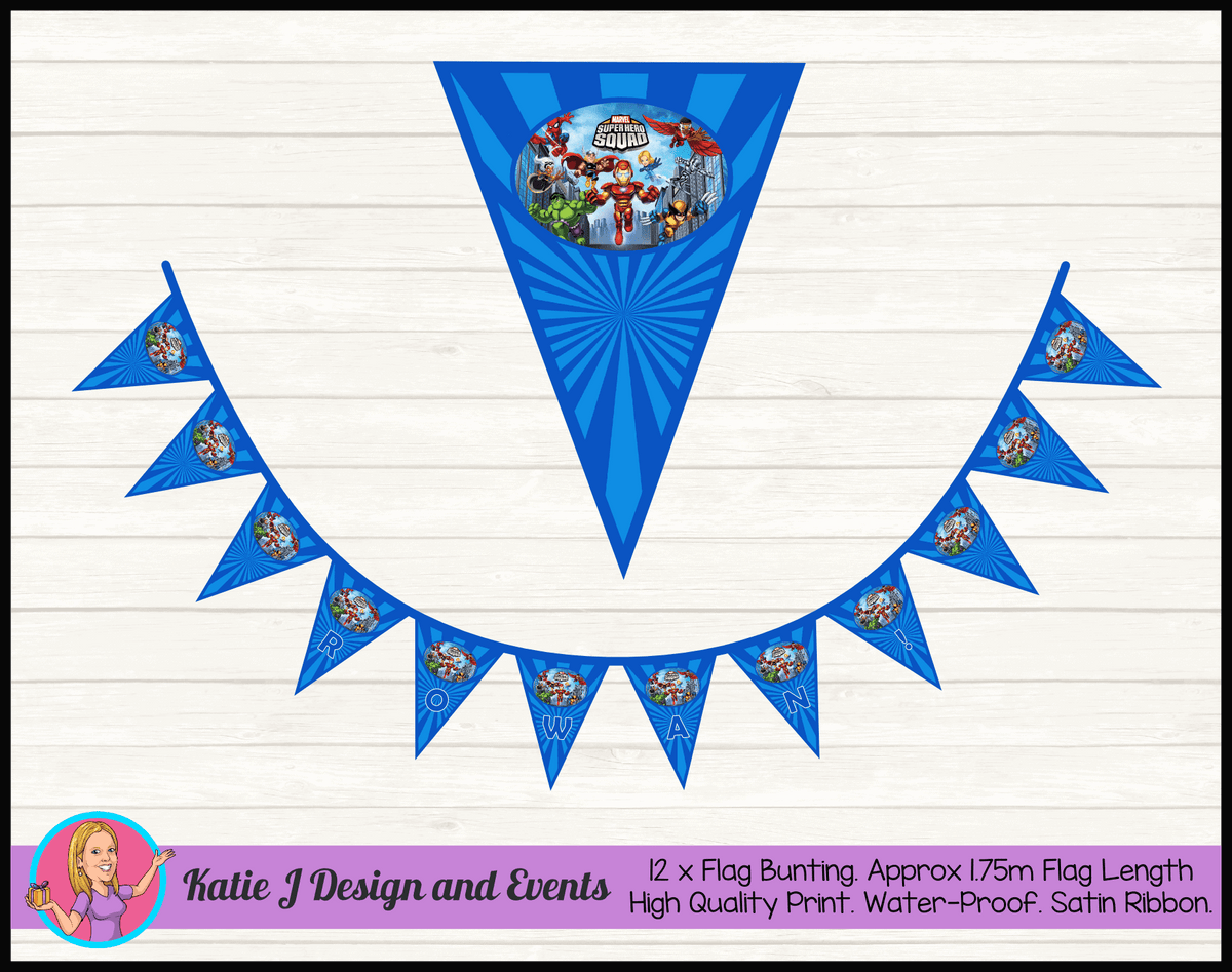 Super Hero Squad Birthday Party Decorations
