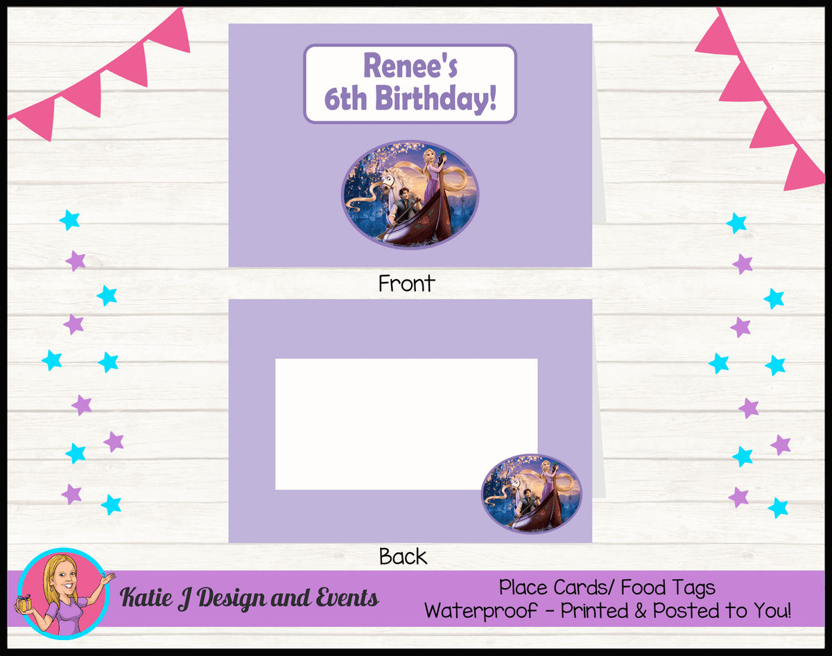 Personalised Tangled Party Place Cards