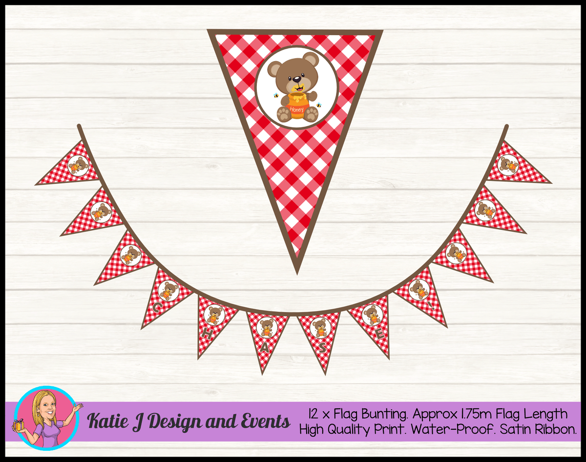 Personalised Teddy Bears Picnic Birthday Party Decorations