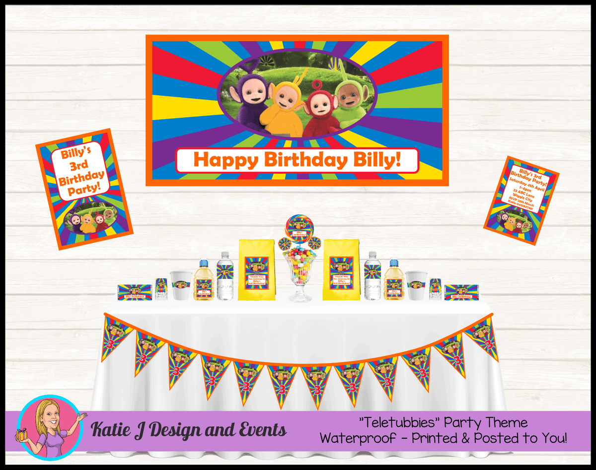 Personalised Teletubbies Party Packs Decorations Supplies