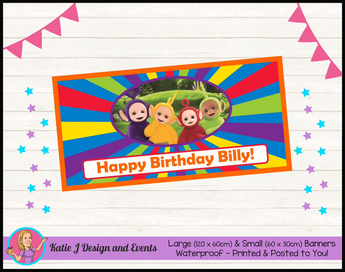 Personalised Teletubbies Birthday Party Banner