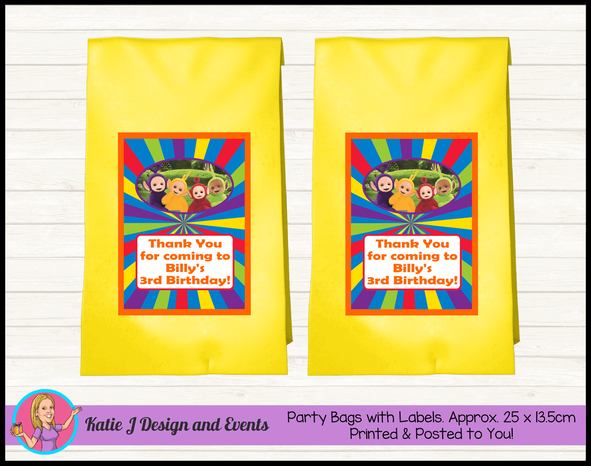 Personalised Teletubbies Birthday Party Loot Bags