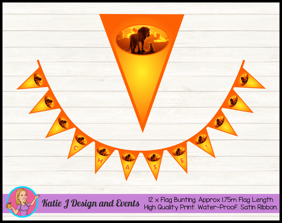 Personalised The Lion King Movie Birthday Party Decorations