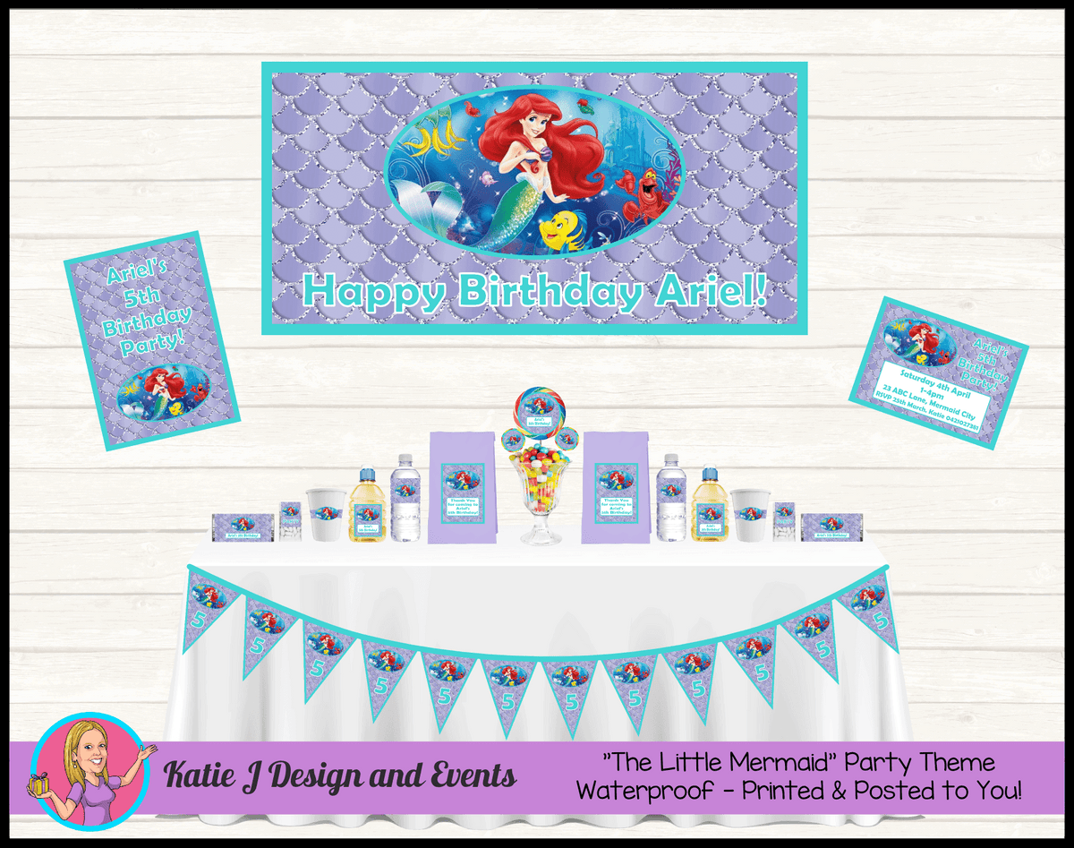 Personalised The Little Mermaid Party Packs Decorations Supplies