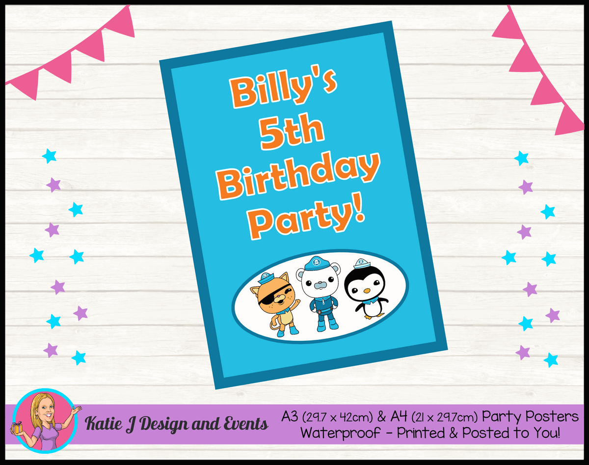 Personalised The Octonauts Birthday Party Poster