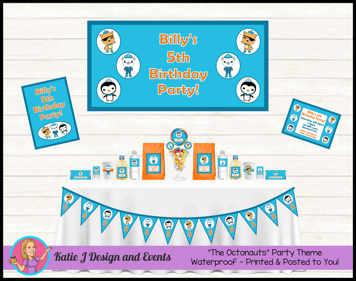 Personalised The Octonauts Party Packs Decorations Supplies