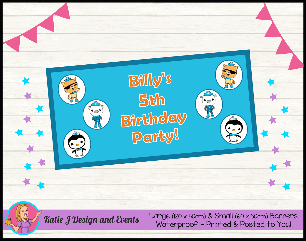 Personalised The Octonauts Birthday Party Banner