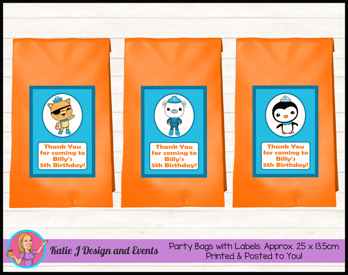 Personalised The Octonauts Birthday Party Loot Bags