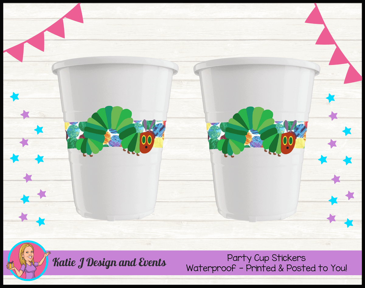 Personalised Girls Very Hungry Caterpillar Party Cups