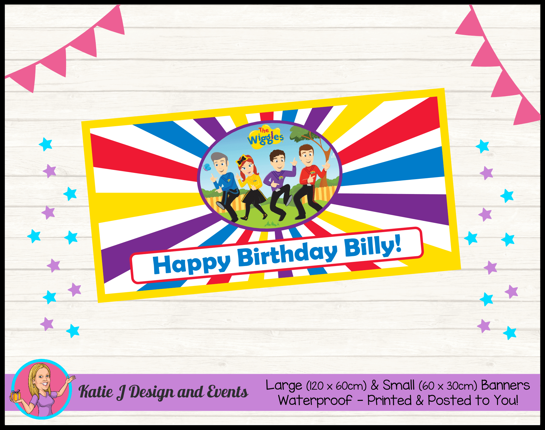 Personalised Wiggles Cartoon Party Packs Decorations Supplies