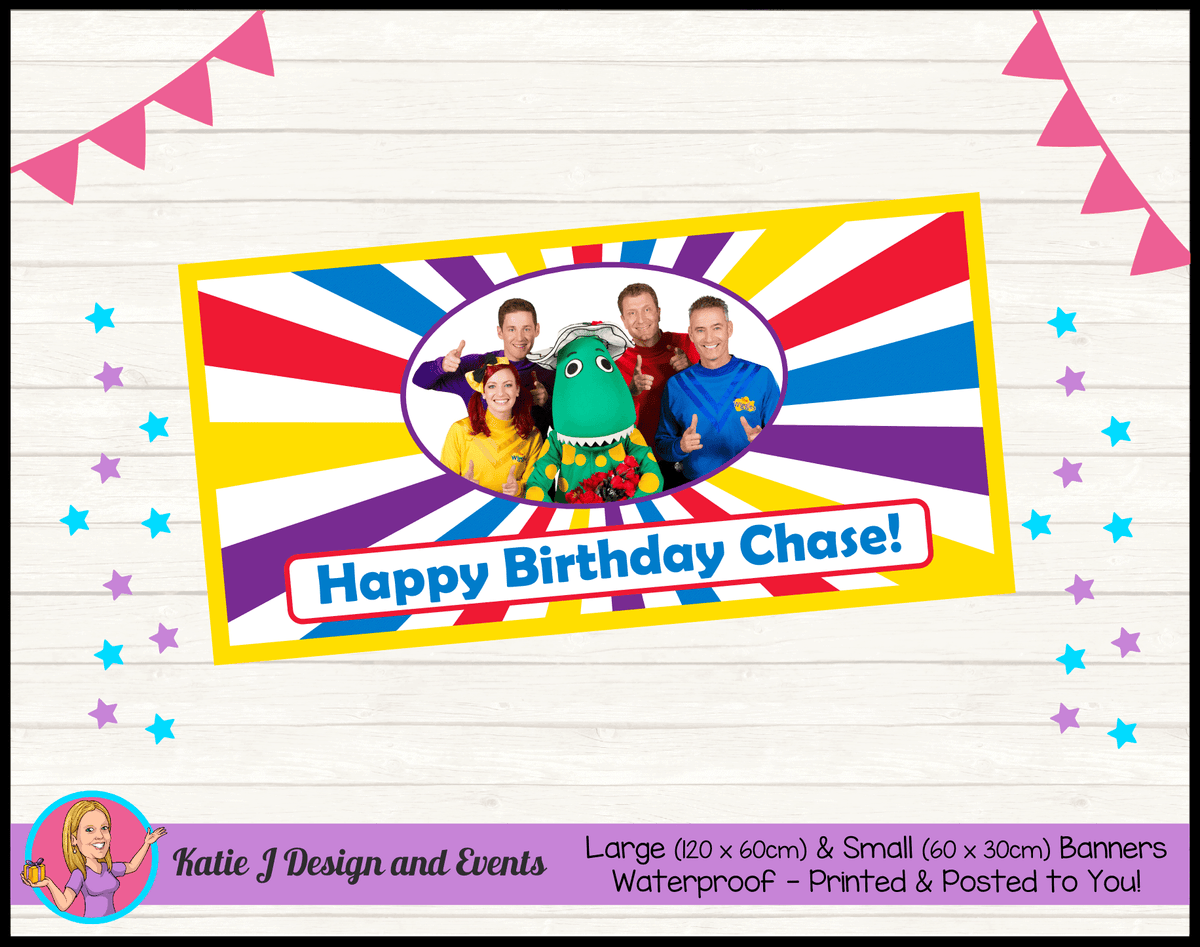 The Wiggles Personalised Birthday Party Banners