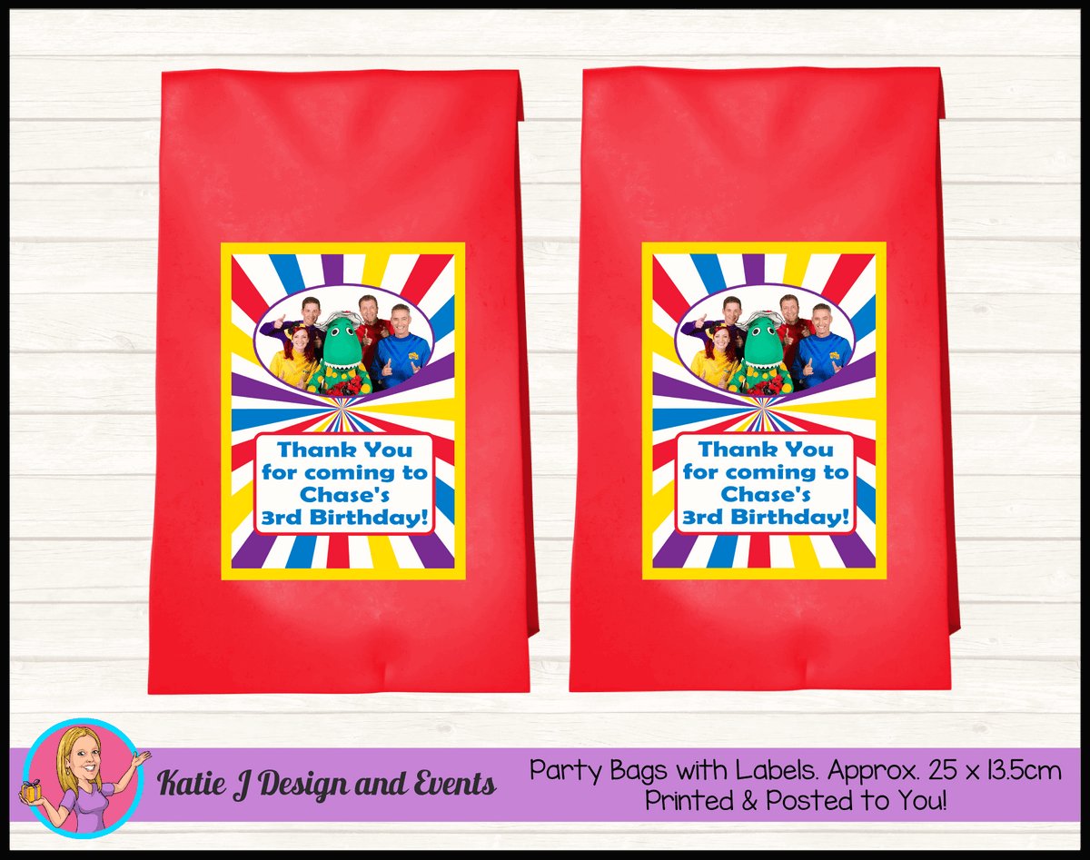 The Wiggles Personalised Birthday Party Loot Bags