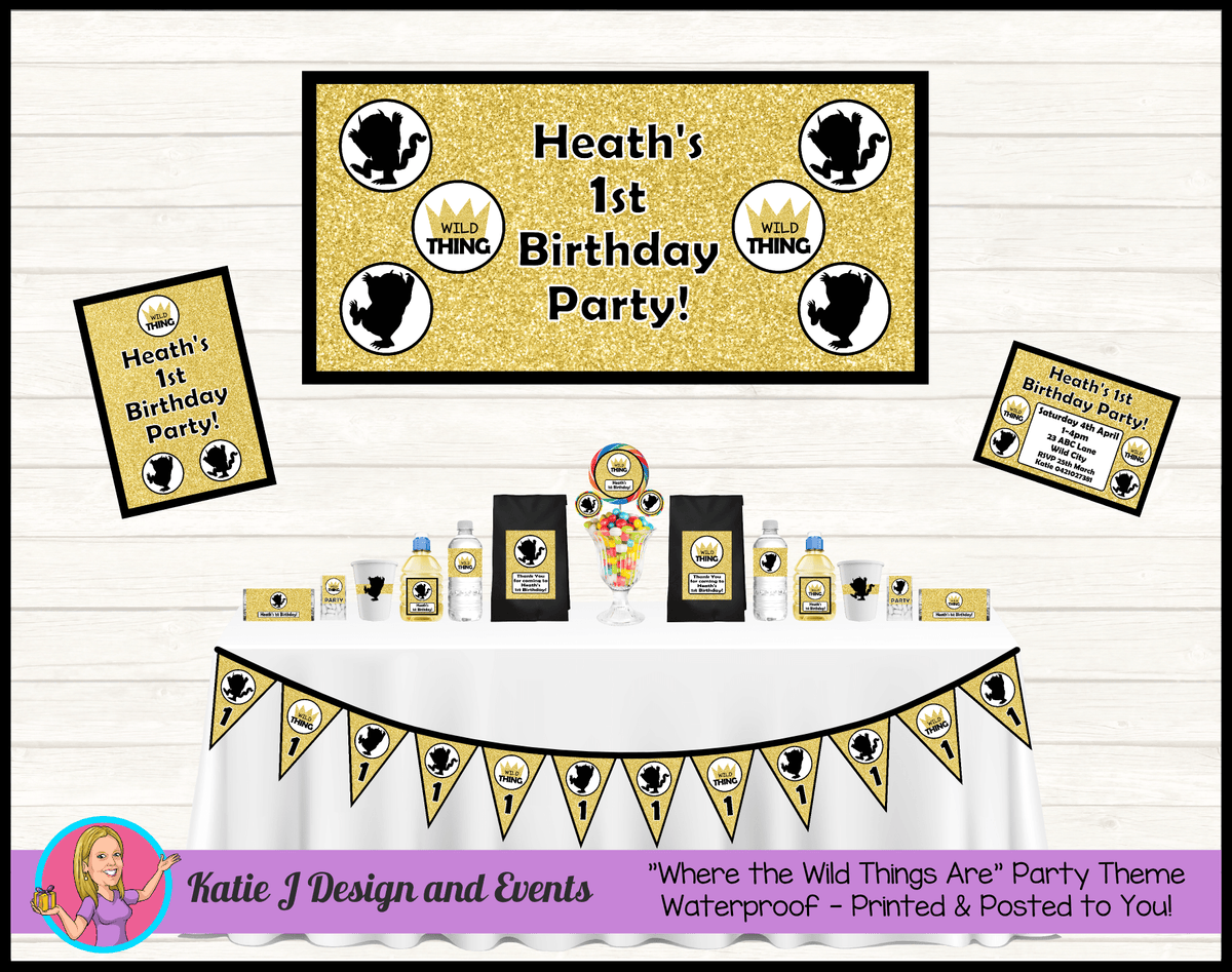 Personalised Where the Wild Things Are Party Packs Decorations Supplies