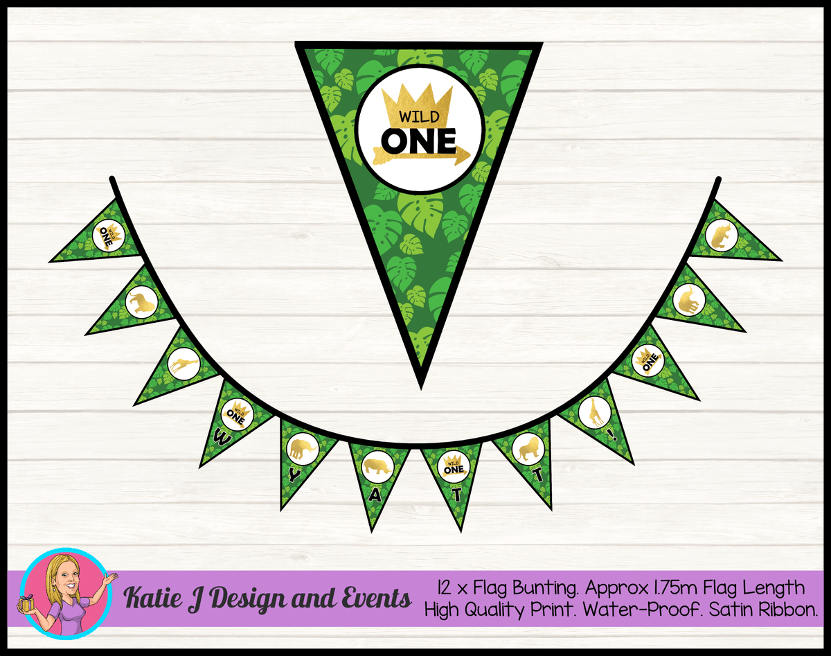 Wild One Jungle Birthday Party Decorations