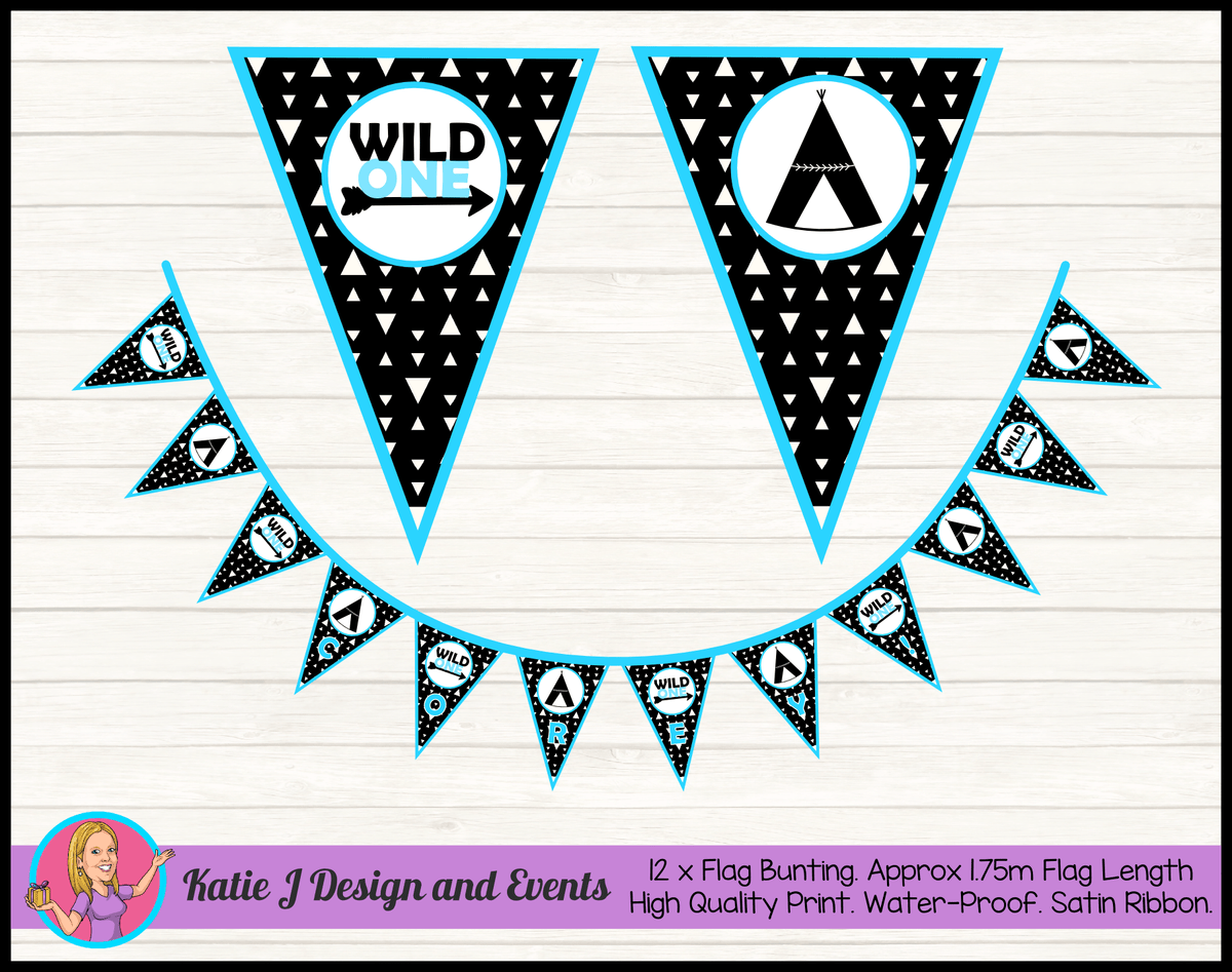 Personalised Monochrome Wild One Birthday Party Decorations