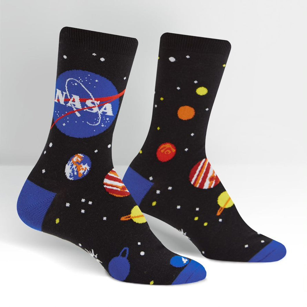Women's Crew Socks: NASA Solar System