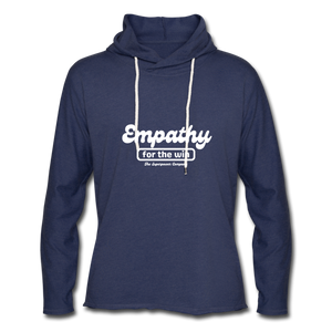 Empathy For The Win Lightweight Terry Hoodie - heather navy