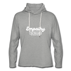 Empathy For The Win Lightweight Terry Hoodie - heather gray