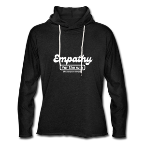 Empathy For The Win Lightweight Terry Hoodie - charcoal gray