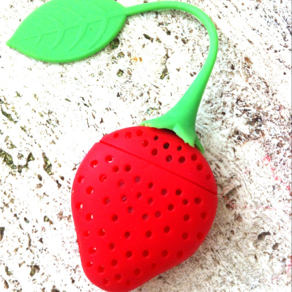 Tea Infuser Red/Pink Strawberry