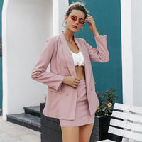Elegant two-piece women blazers skirts