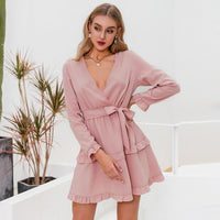 Sexy v-neck women dress