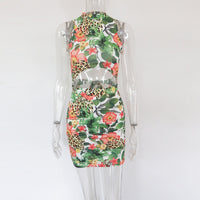 Bonnie Forest Womens Backless Floral Print Sexy Dress With Masks