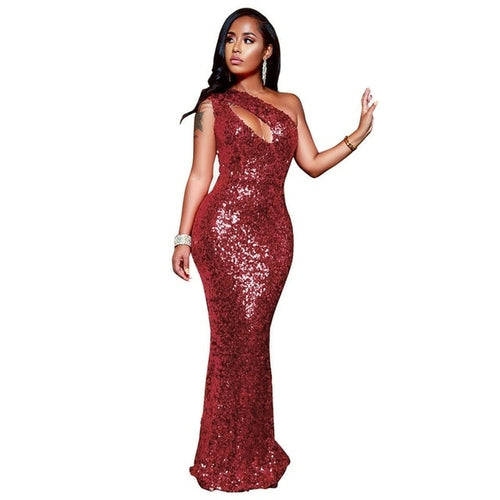 Echoine Women Party Dress Sexy Sparkle Glam Sequin Dazzling One