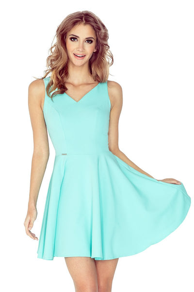 MM 014-4 Dress - heart-shaped neckline - mint