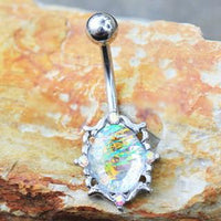 316L Stainless Steel Mystical Mirror Navel Ring
