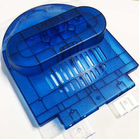 Lid Section -top (Blue) and bottom (clear)